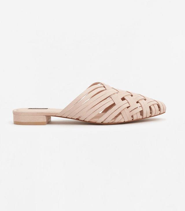 Mango Braided Leather Shoes