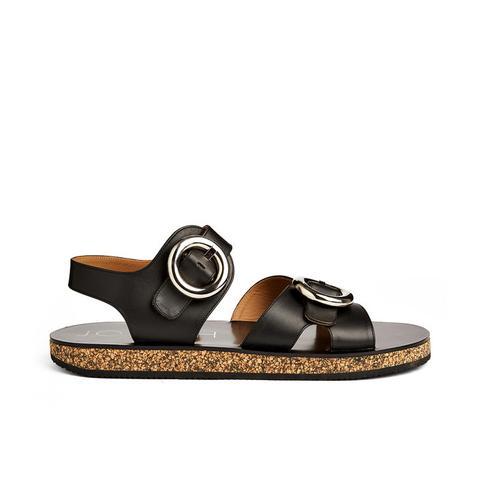 Calf Leather Buckle Sandal