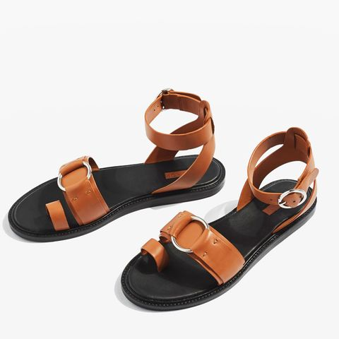 Fray Toe Ring Flat Sandals