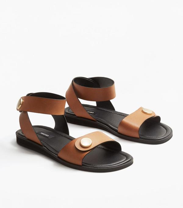 Best sandals: Mango leather sandals