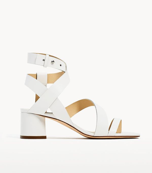 Best sandals: Zara block sandals