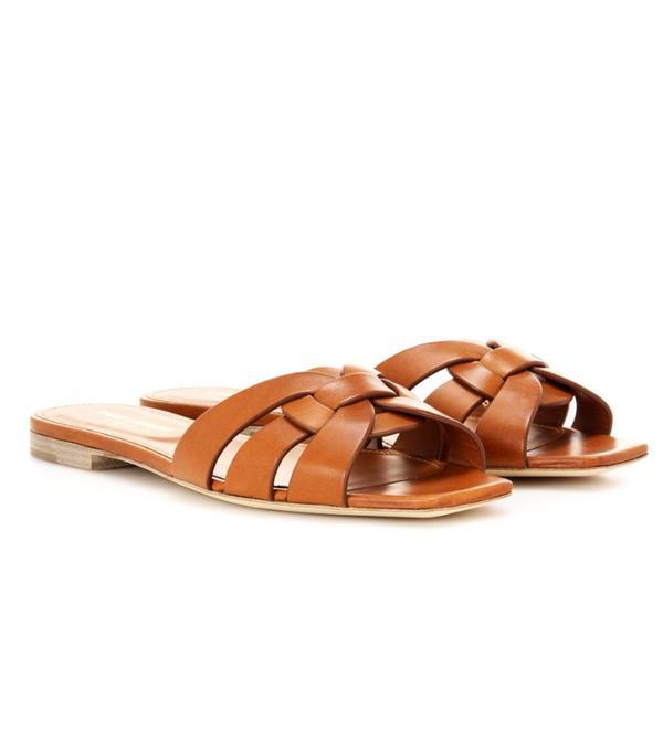 Best sandals: Saint Laurent leather sandals