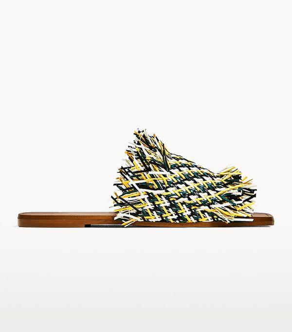 Best sandals: Zara braided shoes