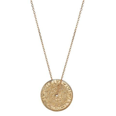 9ct Gold Zodiac Wheel Necklace