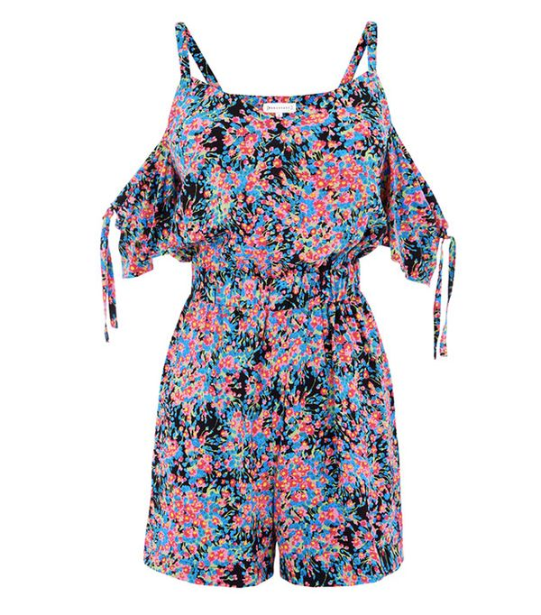 Kendall Jenner's Cannes Vacation Style: Warehouse Flower Burst Print Playsuit