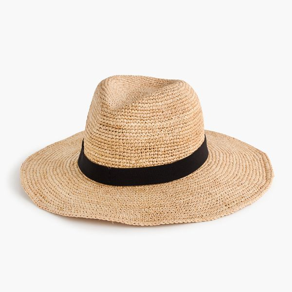 Kendall Jenner's Cannes Vacation Style: J Crew Wide-Brim Packable Straw Hat