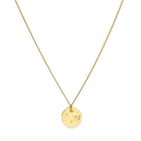 Large Gold Medallion Necklace
