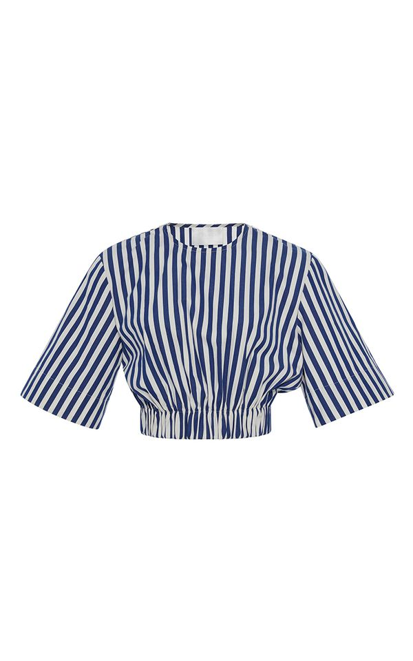 Kendall Jenner's Cannes Vacation Style: Solace London Bella Top Navy Stripe