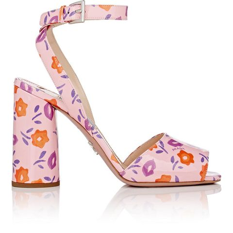 Patent Leather Ankle Strap Sandal