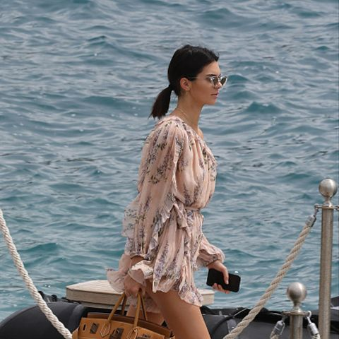 Kendall Jenner's Cannes Vacation Style: Playsuit and trainers