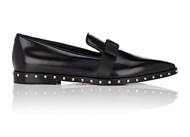 Valentino Soul Rockstud Leather Loafers
