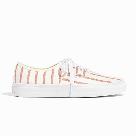 Unisex Authentic Lace-Up Sneakers in Blush Stripe