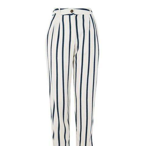 Stripe Mensy Peg Leg Trousers