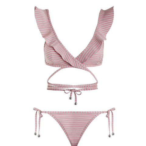 Caravan Stripe Wrap Bikini
