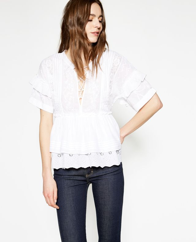 The Kooples White Cotton Top