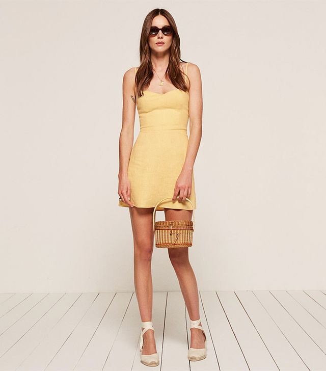 Reformation Audrey Dress in Buttercup
