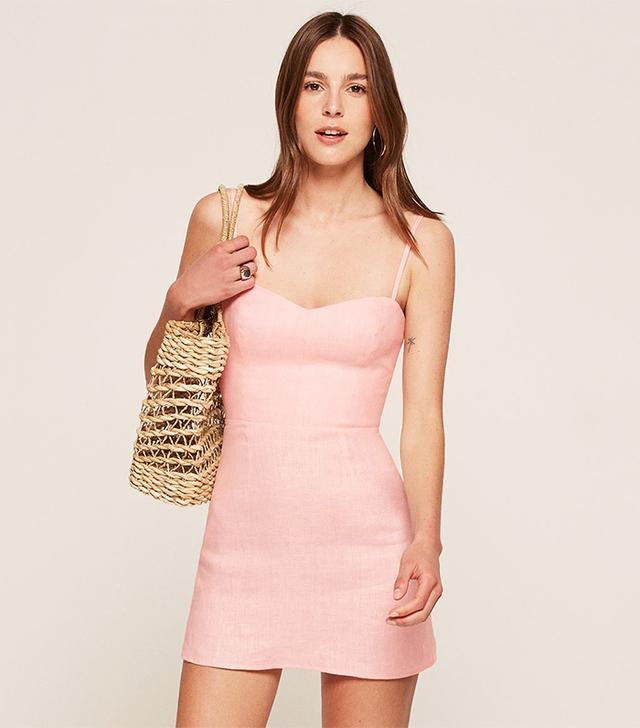 Reformation Audrey Dress in Blush