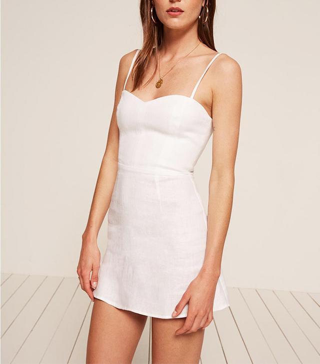 Reformation Audrey Dress in White