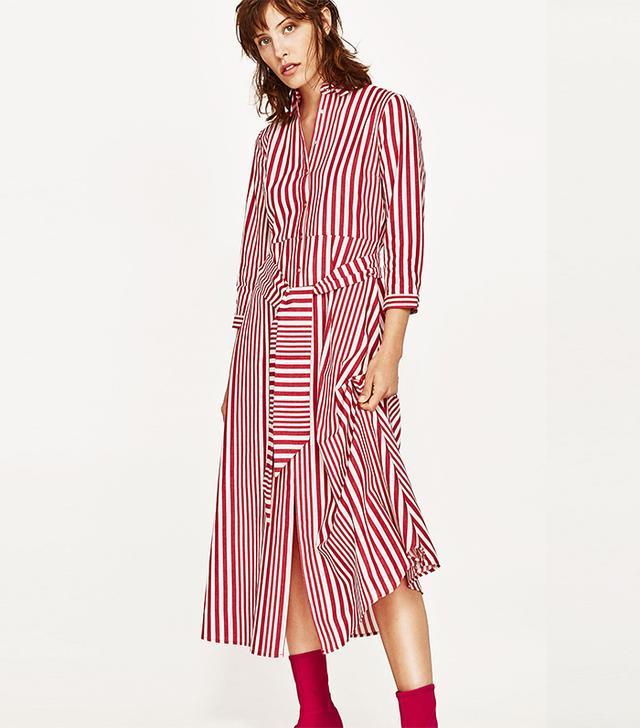 Zara Striped Shirt-Style Tunic