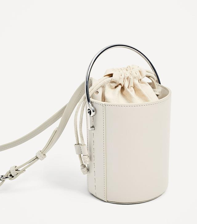 Zara Crossbody Bag With Metallic Handle