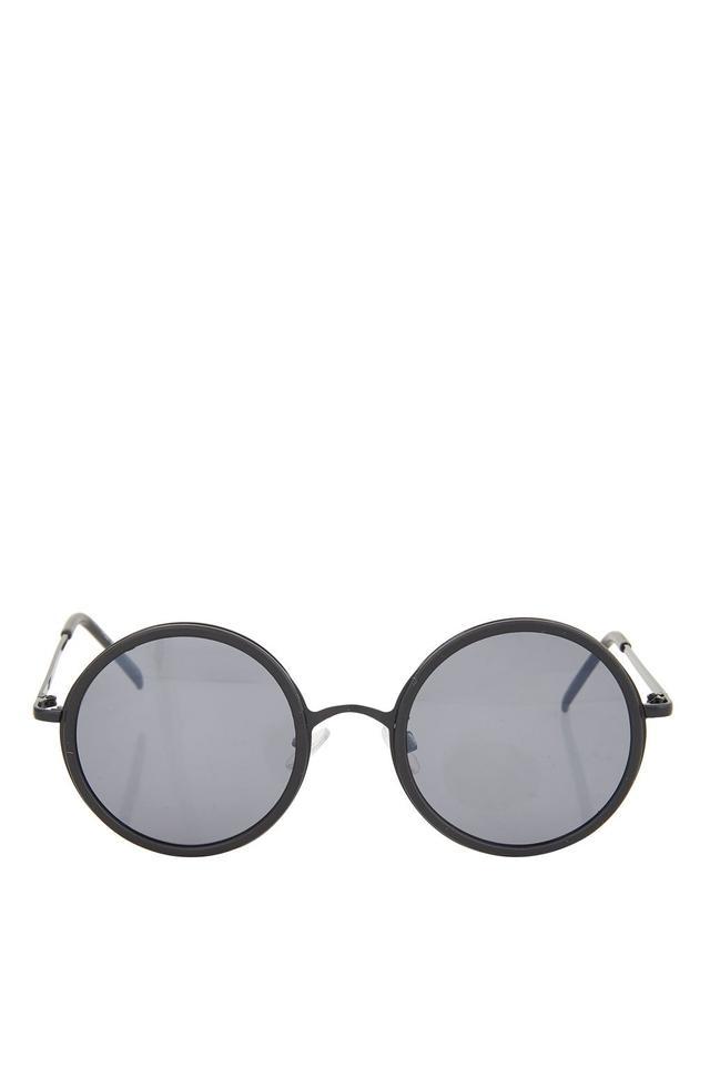 Topshop Lopez Flat Lens Round Sunglasses