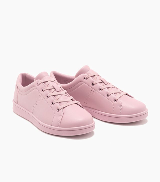 Bershka Single Coloured Lace-up Sneakers