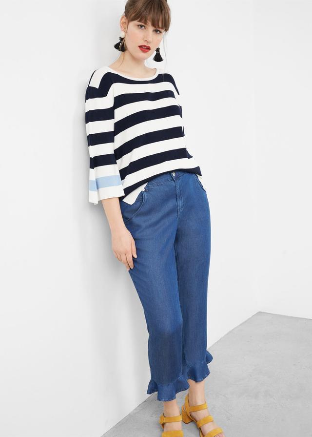 Mango Ruffled Soft Jeans
