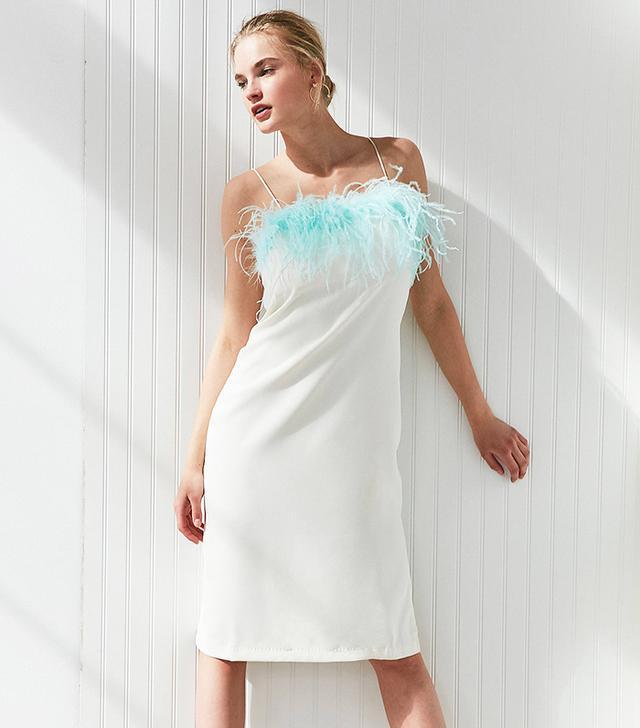 Style Mafia Fluffy Midi Slip Dress