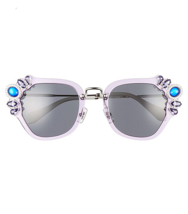 Miu Miu 51MM Embellished Sunglasses
