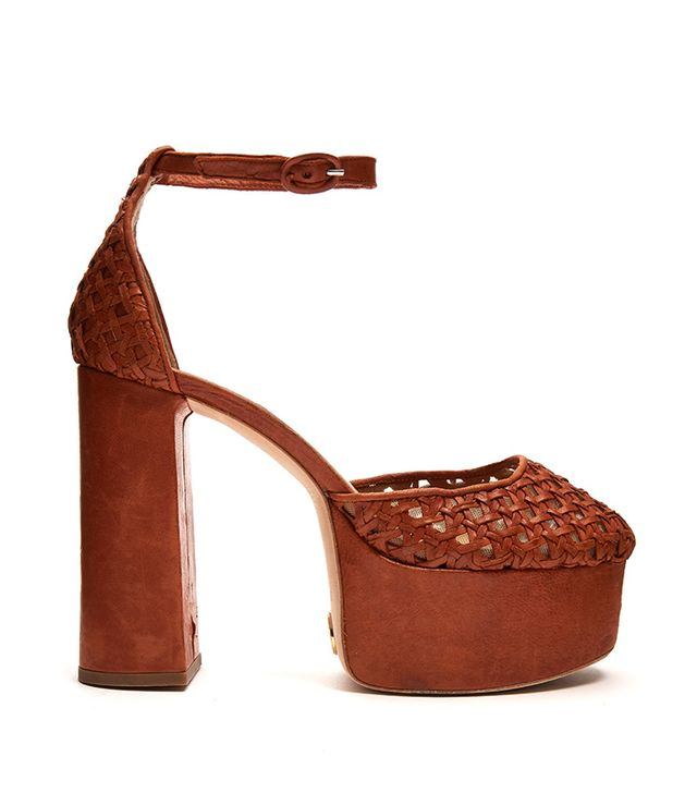 Brother Vellies Oracle Woven-Leather Platform Pumps