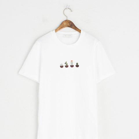 Four Cactus Embroidered Tee