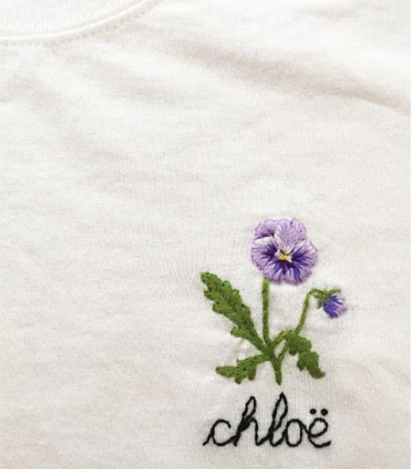 Best Embroidered T-Shirts: Cressida Jamieson personalised Tee
