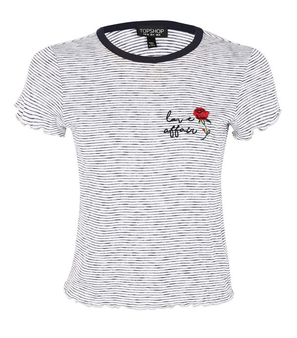 Best Embroidered T-Shirts: Topshop Love Affair Embroidered T-Shirt