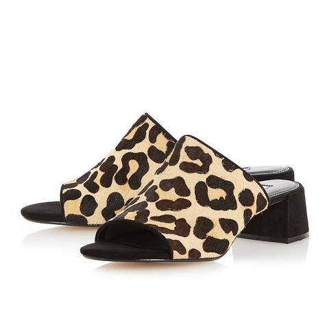 Flare Heel Mule Sandal