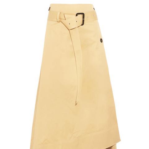 Berwick Cotton-Poplin Wrap Midi Skirt