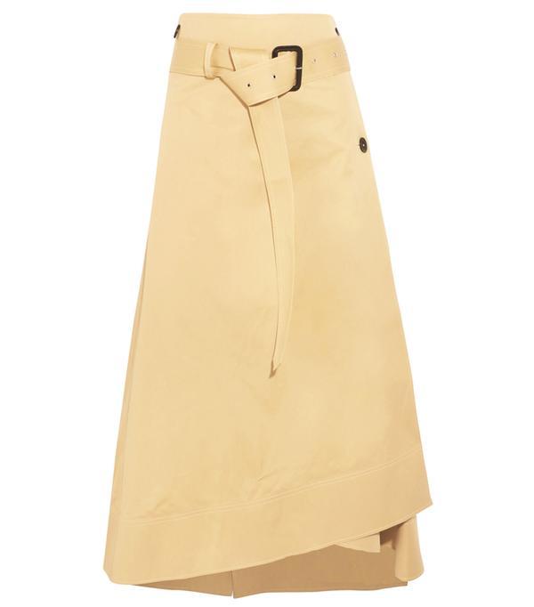 Heatwave Fashion: Berwick Cotton-poplin Wrap Midi Skirt
