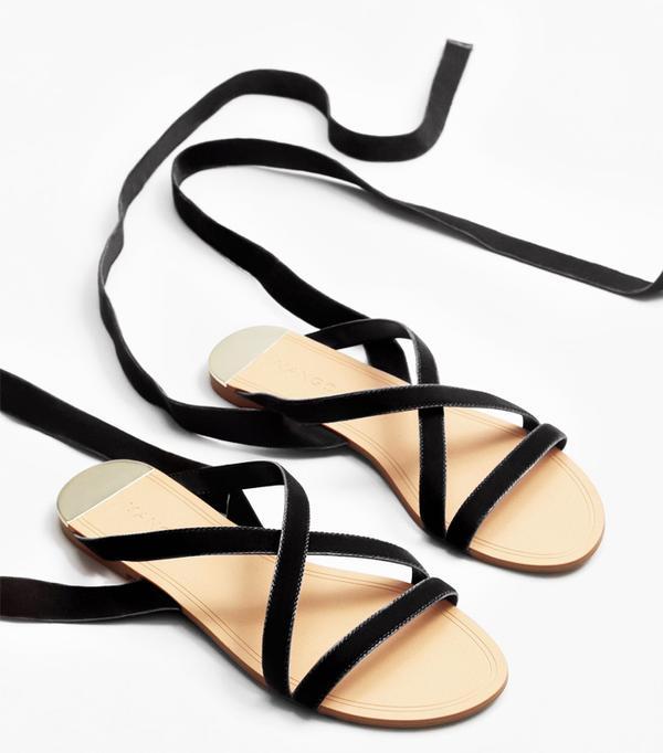 Heatwave Fashion: Mango Velvet Strappy Sandals