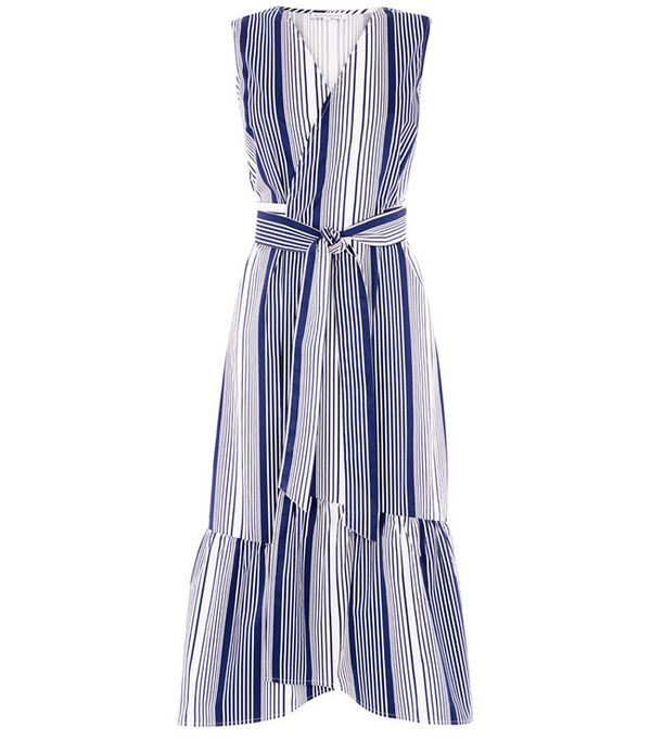 Heatwave Fashion: Warehouse Stripe Wrap Dress