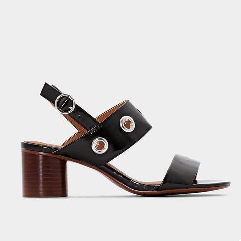 Leather Sandals With Eyelets