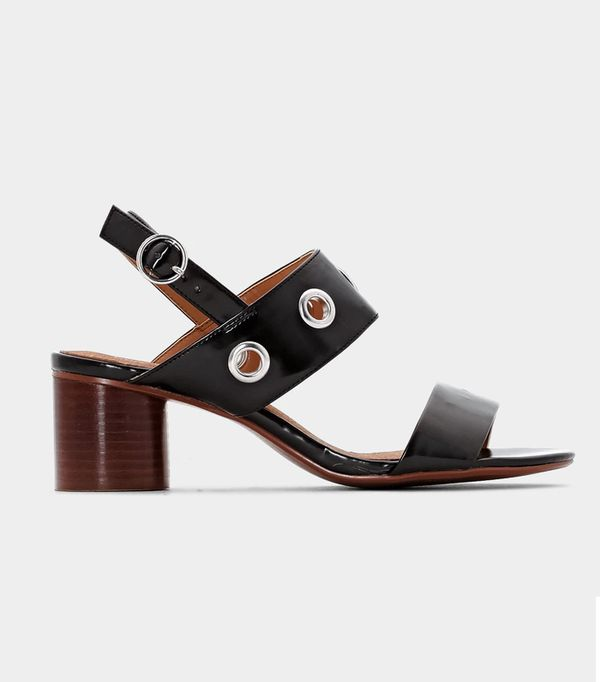 Heatwave Fashion: la redoute Leather Sandals with Eyelets