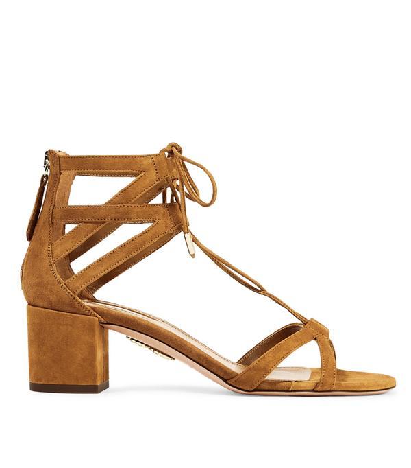 Heatwave Fashion: Aquazzura Beverly Hills Suede Sandals