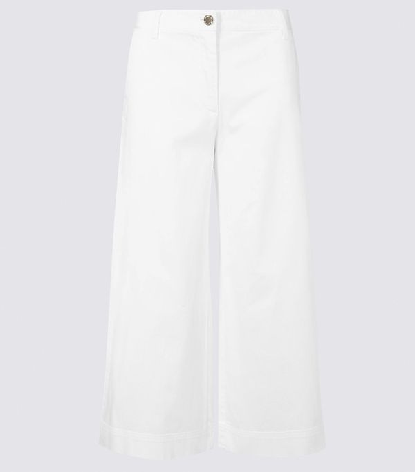 Heatwave Fashion: Marks & Spencer Cotton Rich Cropped Wide Leg Trousers
