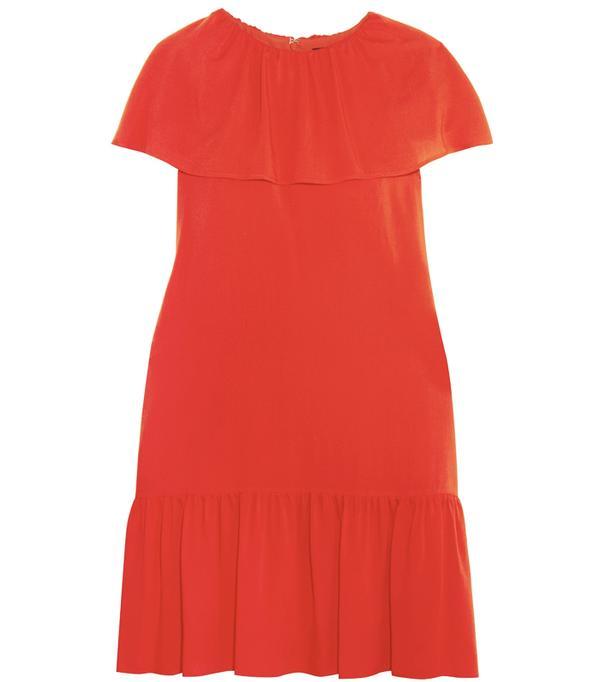 Heatwave Fashion: Vanessa Seward Delphes ruffled crepe de chine mini dress