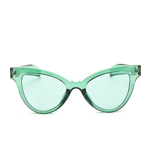 Green Candy Cat Eye Sunglasses
