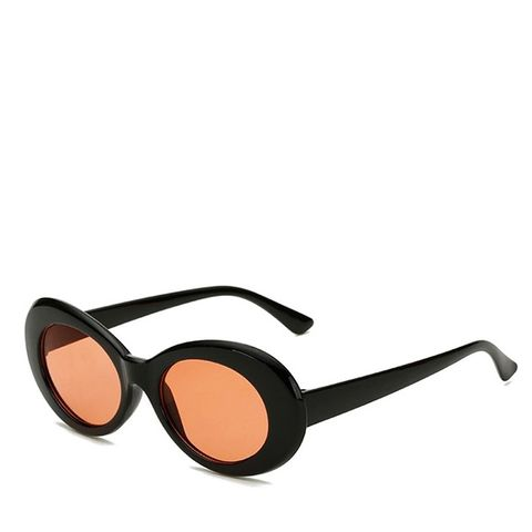 Black and Red Oval Alien Kurt Cobain Sunglasses