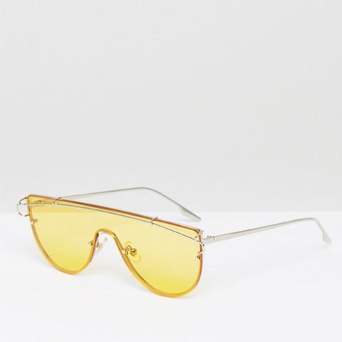 Yellow Tinted Lens Visor Sunglasses