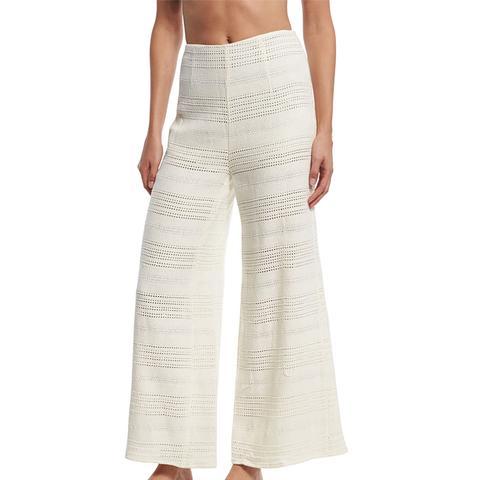 Crochet Wide-Leg Coverup Pants
