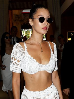 Bella Hadid Is the Latest Celebrity to Get on Board With Naked Pants