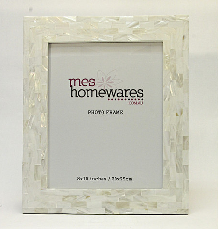 Mes Homewares Mother of Pearl Thick Border Photo Frame