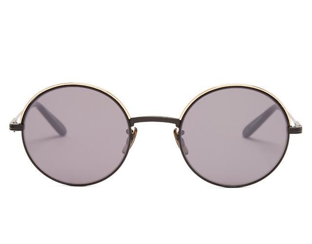 Garrett Leight Seville Round-Frame Sunglasses